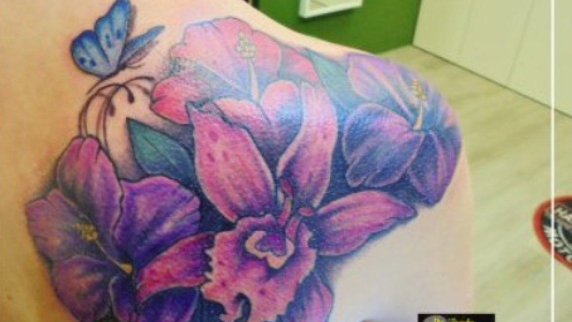 Copertura di tatuaggio a cura di Dr. Zivago Tattoo